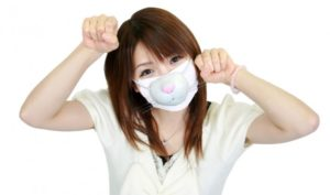 maschera ragazza giapponese