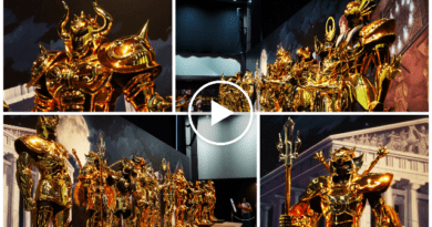 VIDEO – FOTO Armature a grandezza naturale per i 30 anni di Saint Seiya